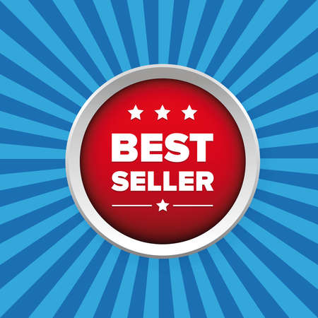 seller: Best seller button vector