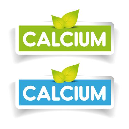 El calcio conjunto vector de la etiqueta
