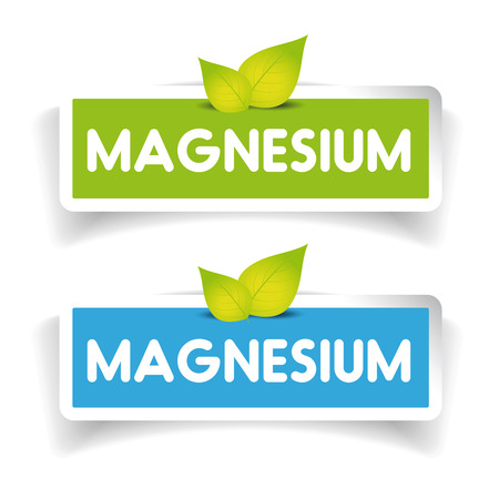 affinity: Magnesium label vector set