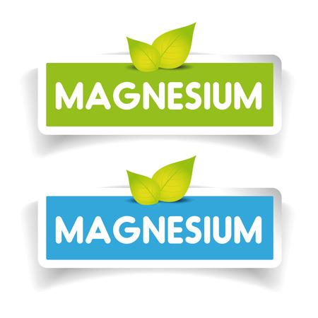 magnesium: Magnesium label vector set