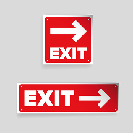 exit sign: Exit sign vector red