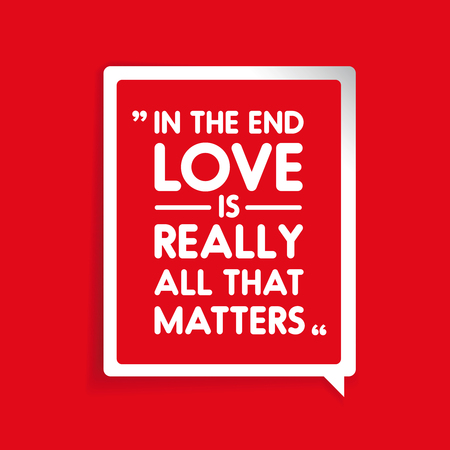 eros: In the end love is really all that matters Illustration