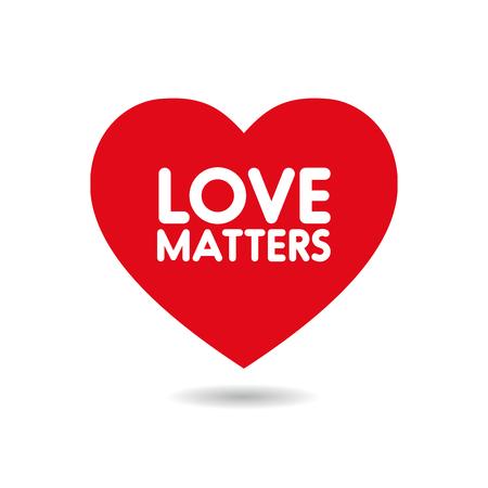 eros: Love matters in red heart shape