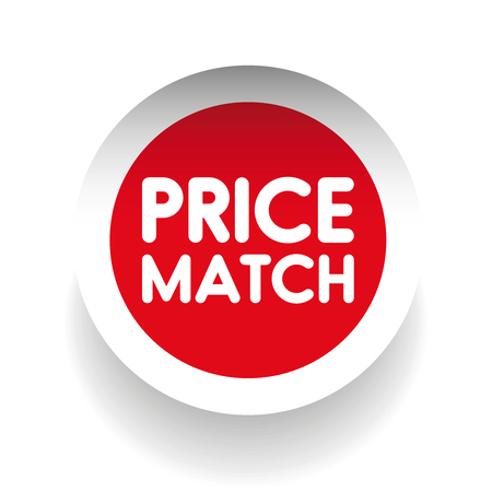 match: Price match label vector Illustration