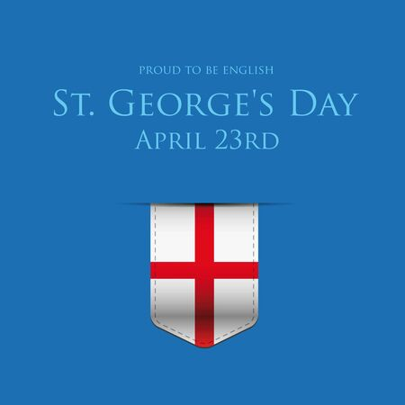 george: St George Day England flag ribbon banner or poster