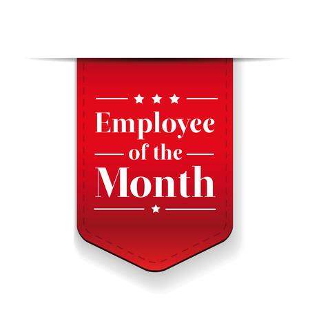 Employee of the Month award ribbon Stock Illustratie