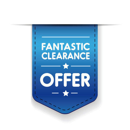 fantastic: Fantastic clearance offer ribbon vector