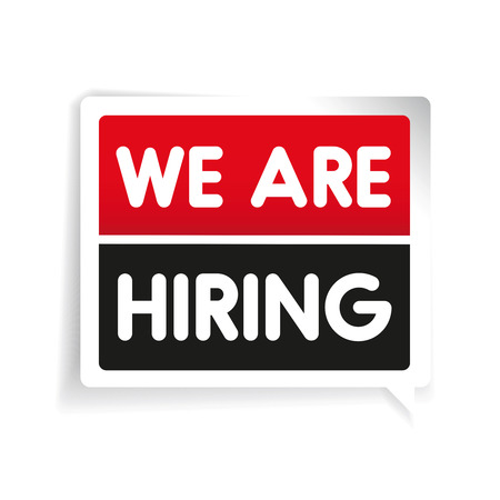 talented: We are hiring label vector