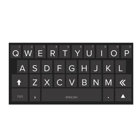 qwerty: Smartphone keyboard dark vector
