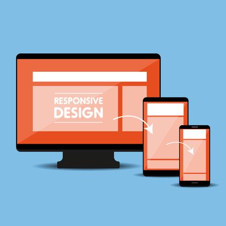responsive design: Responsive web design concept vector Illustration