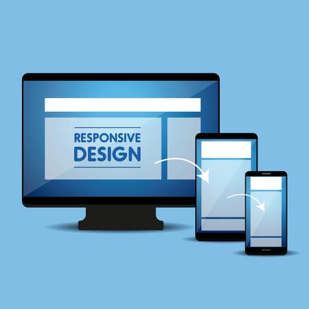Responsive Web concepto de diseño vectorial