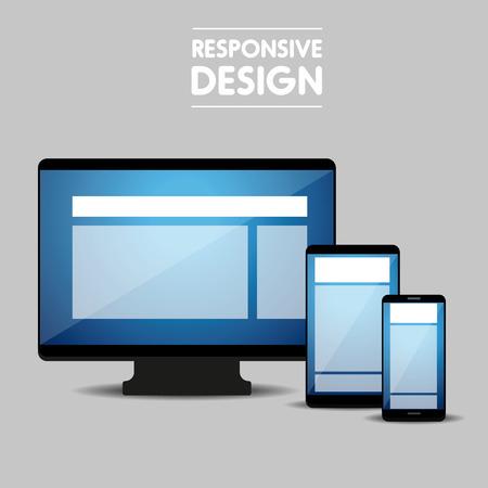 responsive: Responsive web design concept vector Illustration