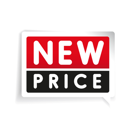 indicator board: New price label vector red