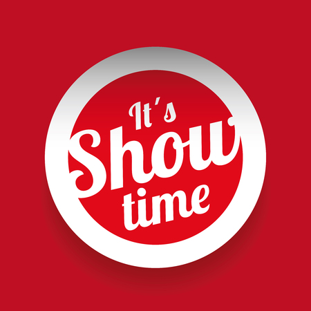 showtime: It´s showtime red label Illustration