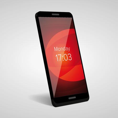 smartphone icon: Smartphone icon vector mockup Illustration