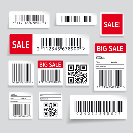 ean: Barcode label and sale set