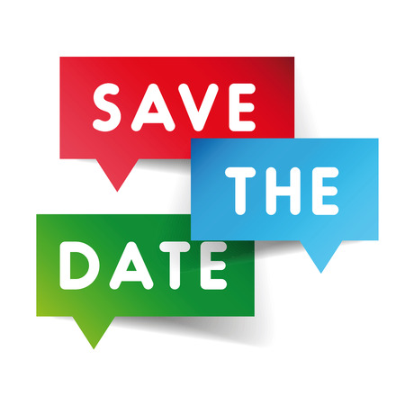 Save the date speech bubble vector Vector Illustration