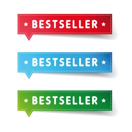 bestseller: Bestseller label set vector