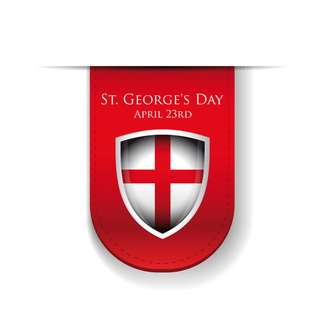 george: St George Day England flag shield