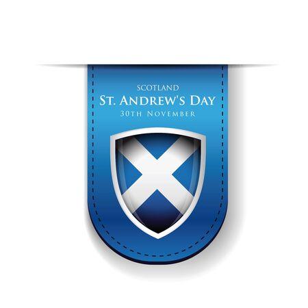 andrew: St Andrew Day Scotland flag shield