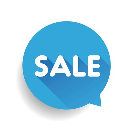 sales representative: Sale label speech bubble vector blue
