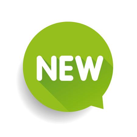 New label speech bubble vector green