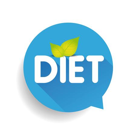 regime: Diet label vector speech bubble Illustration