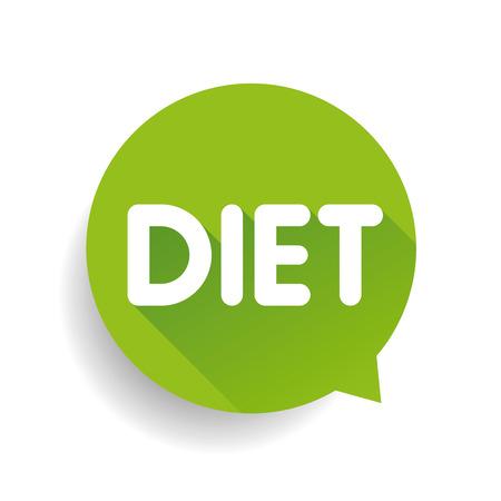starvation: Diet label vector speech bubble Illustration