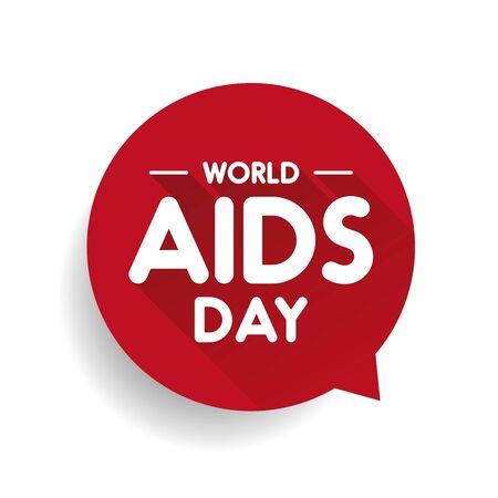 Journée mondiale du sida Speech bubble Vecteurs