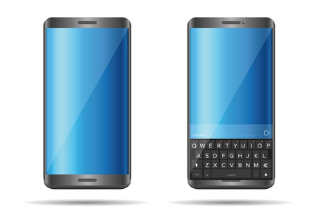 pda: Smartphone with full keyboard vector