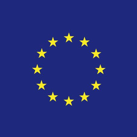 Europe flag (EU) vector Illustration