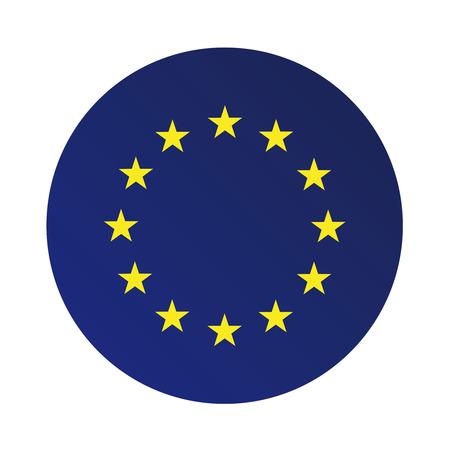 Europe flag (EU) vector  イラスト・ベクター素材