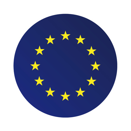 european union: Europe flag (EU) vector Illustration