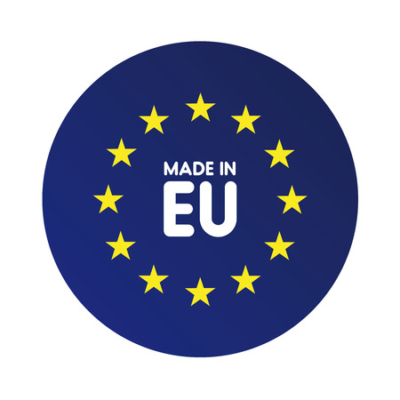 flagged: Made in Europe (EU) vector sign