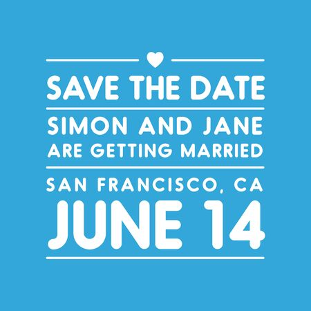 tearaway: Save the date lettering