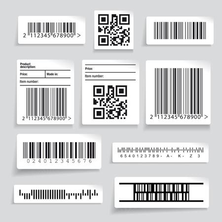 Barcode ensemble autocollant vecteur Banque d'images - 57892428