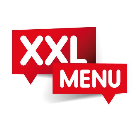 xxl: XXL Menu label set Illustration