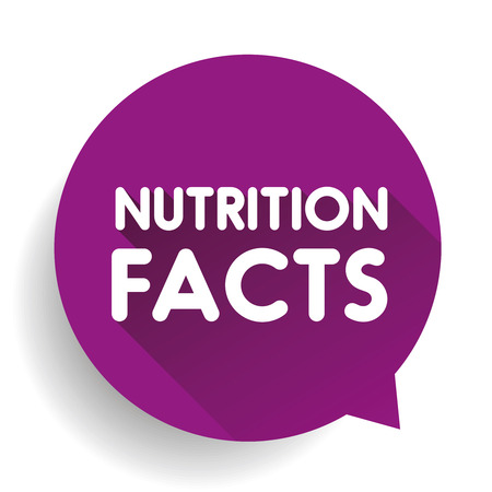 grams: Nutrition facts label sign vector Illustration