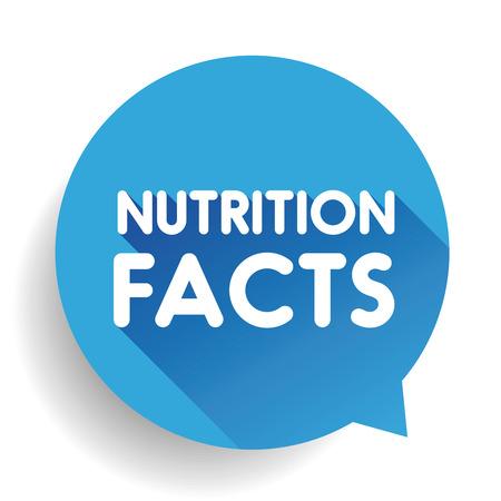 western script: Nutrition facts label sign vector Illustration