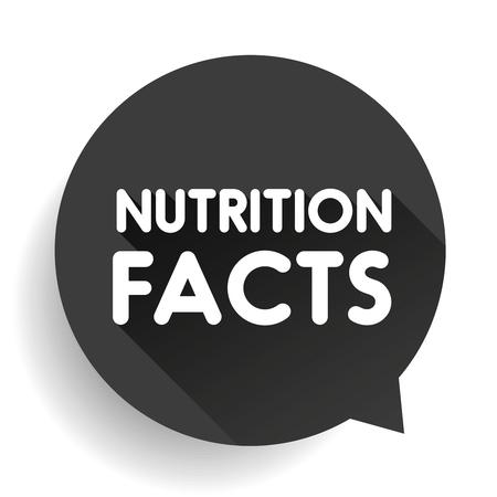 nutrition label: Nutrition facts label sign vector Illustration