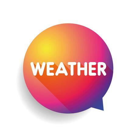 meteorology: Weather icon speech bubble