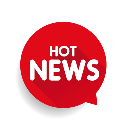 hot news: Hot News icon label vector