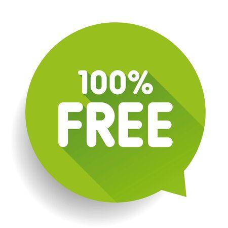 freebie: Hundred percent free sticker Illustration
