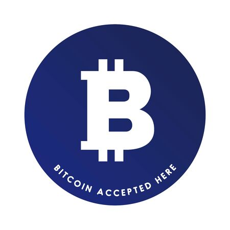 accepted label: Bitcoin accepted here label