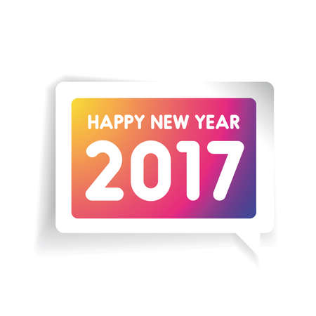 bokeh background: Happy New Year 2017