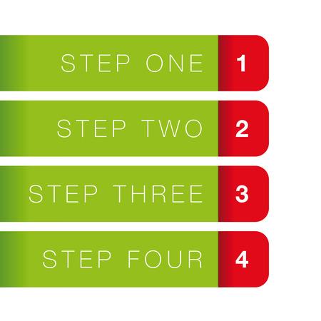 bar one: One Two Three Four vector progress bar