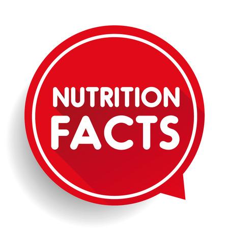 Nutrition facts label vector Ilustração