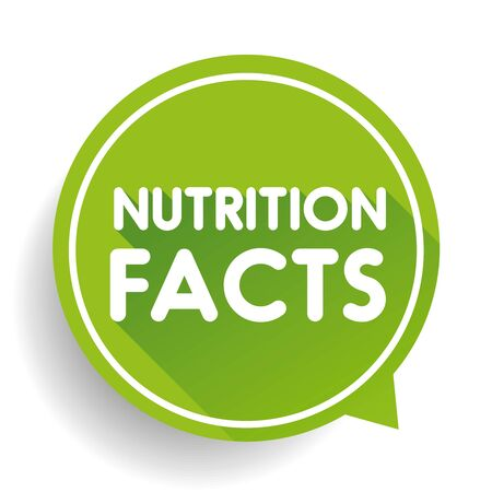 nutrition label: Nutrition facts label vector Illustration