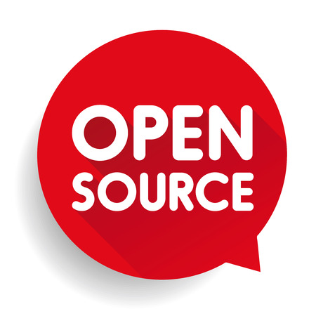 source: Open Source button vector