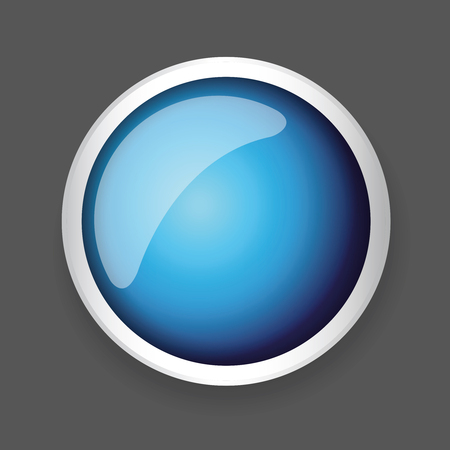 shiny button: Blue shiny button with metallic elements